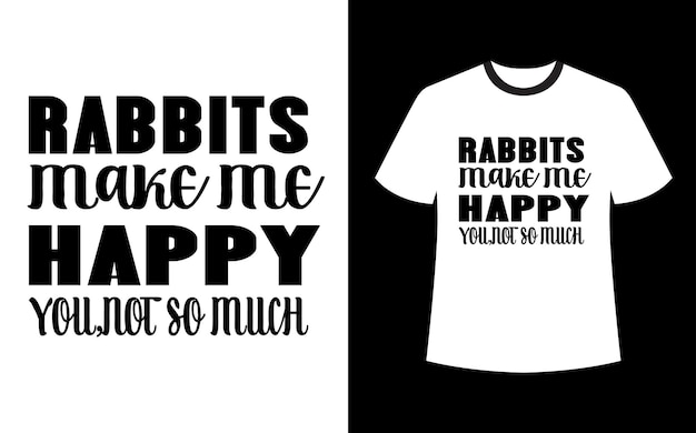 Króliki mnie uszczęśliwiają, nie tyle projekt koszulki
