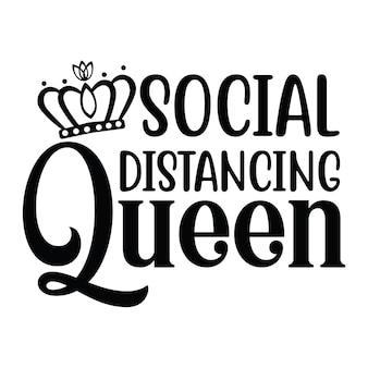 Królowa dystansu społecznego
