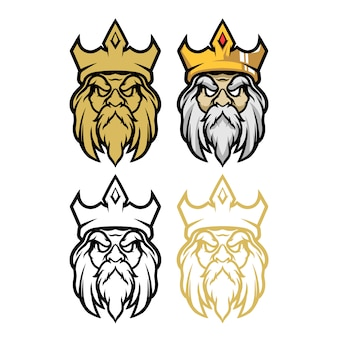 Królowa głowa wektor ilustracja esport maskotka