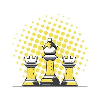 Królowa i dwie wieże
