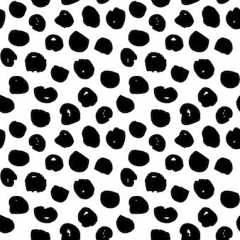 Kropki handdrawn wzór. ilustracja wektorowa grunge taflowy tło.