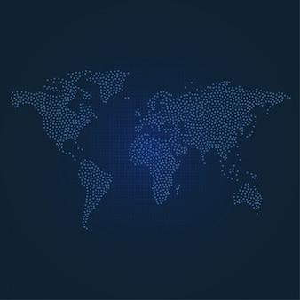 Kropkowana mapa świata
