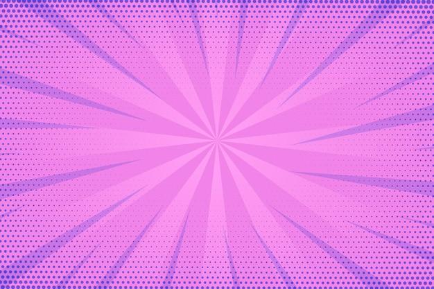 Kropkowane fioletowe tło komiks stylu prędkości