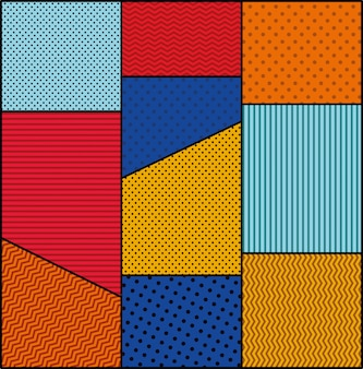 Kropkowany i kolory tła stylu pop-art