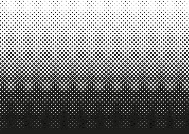 Kropkowany wzór półtonów. tło gradientowe pop-artu z kręgów. komiksowa tekstura półtonów