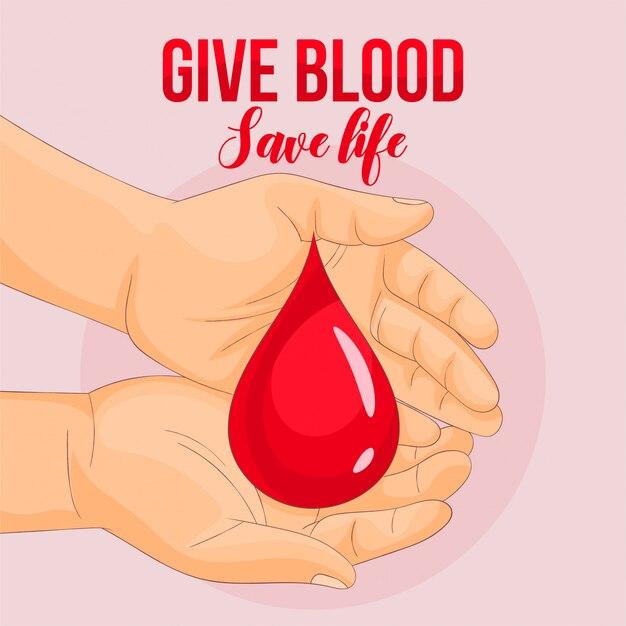 Kropla krwi trzymając się za ręce
