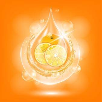 Kropla oleju pomarańczowego