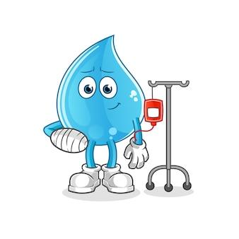 Kropla wody chora na ilustracji iv