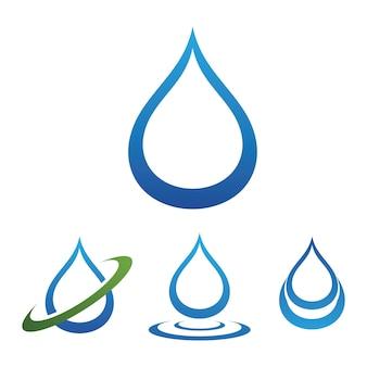 Kropla wody logo szablon wektor ilustracja projektu