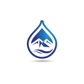 Kropla wody logo wektor ikona ilustracja projekt
