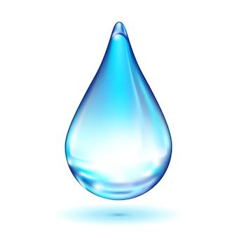 Kropla wody na białym tle