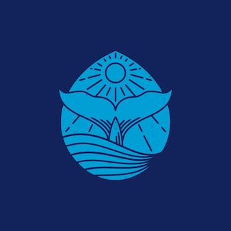 Kropla wody whale vintage design