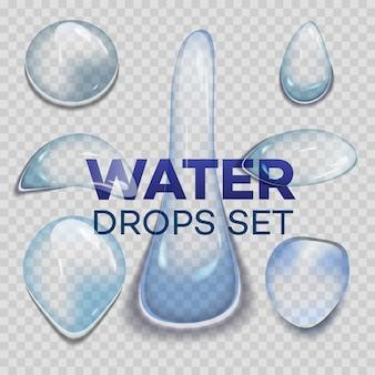 Krople deszczu wody lub prysznic parowy na przezroczystym tle.
