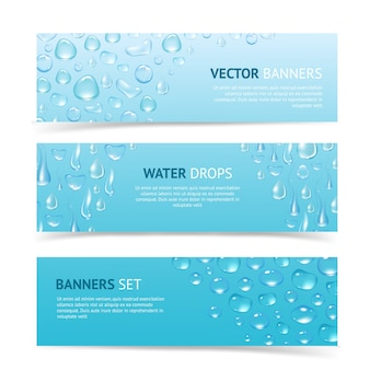 Krople wody banery