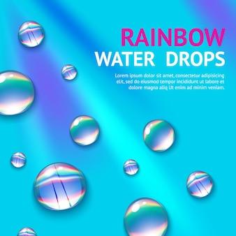 Krople wody z rainbow