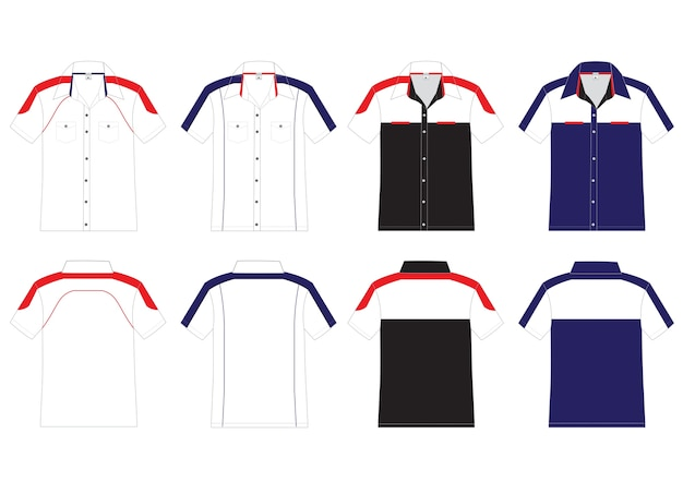 Krótki projekt wektor koszula