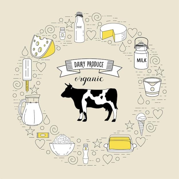 Krowa i szersza gama zdrowych produktów mlecznych