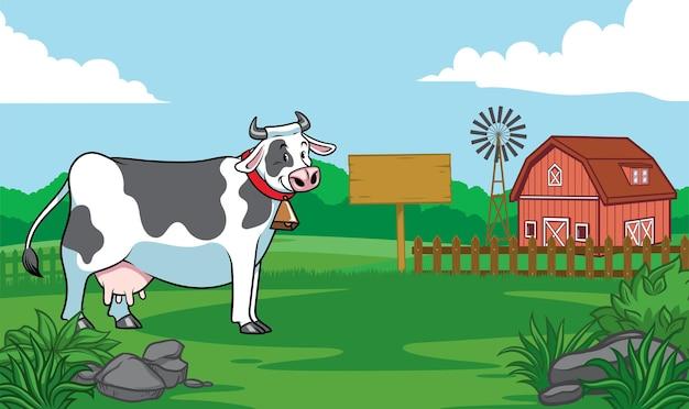 Krowa na farmie