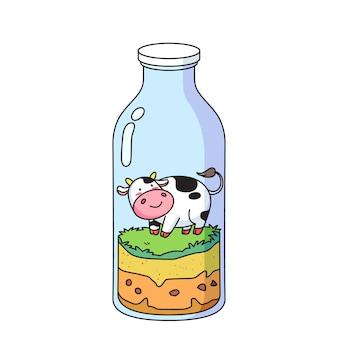 Krowa w butelce
