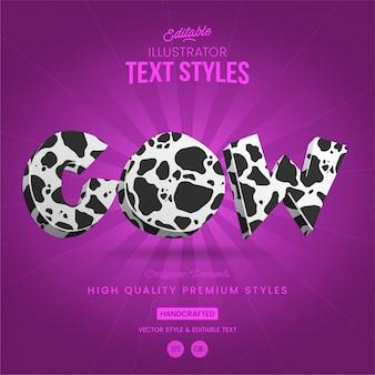 Krowa w stylu tekstu zwierzęcego