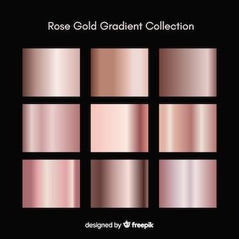 Kruszcowy tekstura róży złota gradientu set