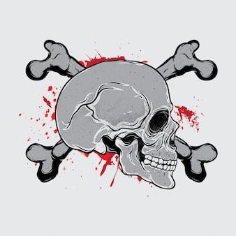 Krwi czaszki głowy