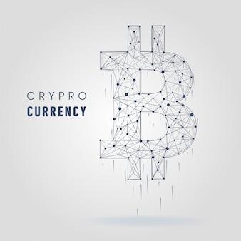 Kryptowaluta symbol wektor ilustracja finansowa