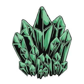 Kryształowa ilustracja