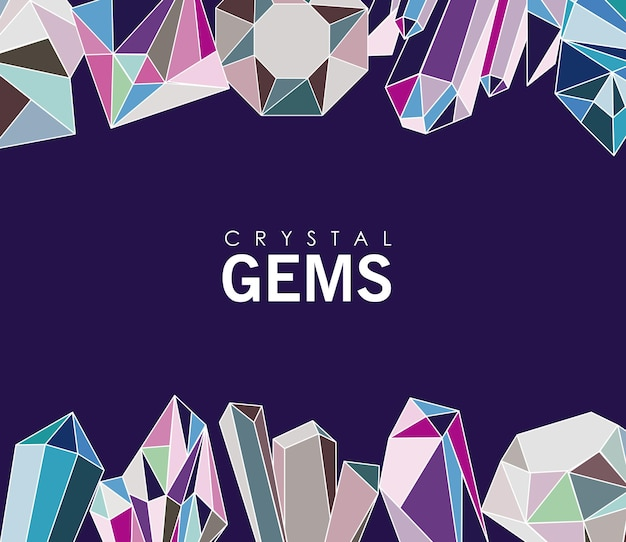 Kryształowe klejnoty luksusowe ikony ramki