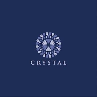 Kryształowy diament logo nowoczesny ornament