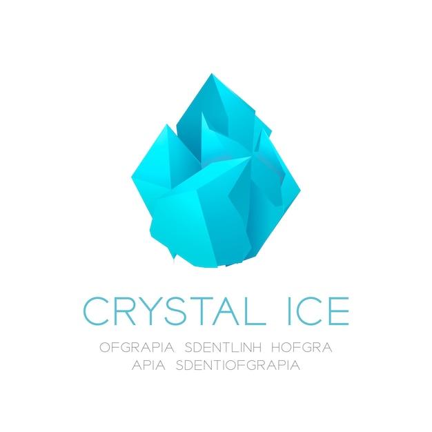 Kryształu lodu ikony ilustracja na białym tle