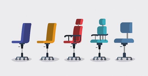 Krzesła biurowe ustawione style