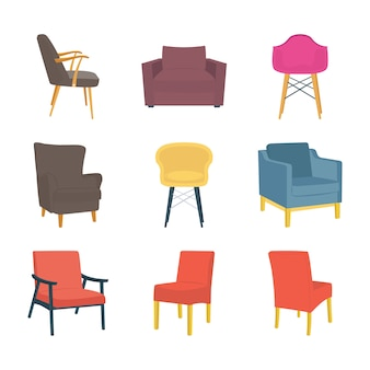 Krzesła i kanapy mieszkania