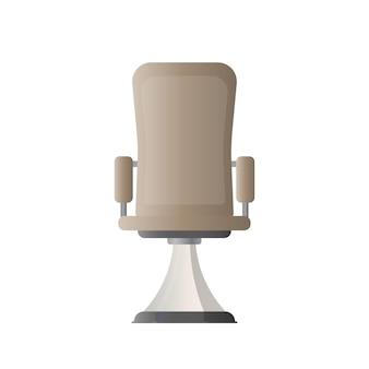 Krzesło biurowe. ilustracja wektorowa krzesła biurowego dla szefa. na białym tle.