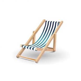 Krzesło plażowe na białym tle