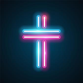 Krzyż neon design