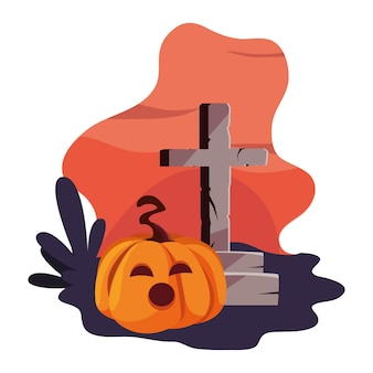 Krzyż szczęśliwego świętowania halloween