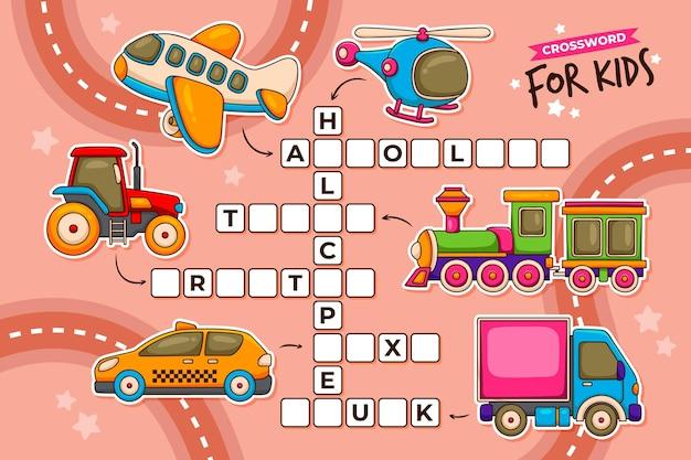 Krzyżówka w języku angielskim dla dzieci