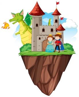 Książę i księżniczka na zamku