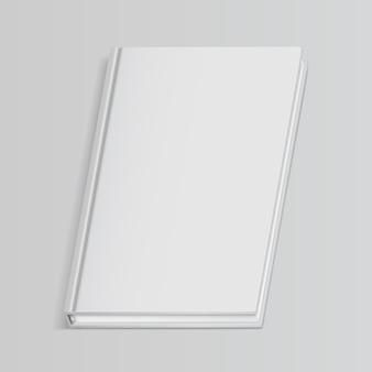 Książka biała pusta okładka na białym tle ilustracja