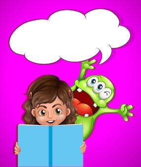Książka do czytania dla dziewczynki i potwora