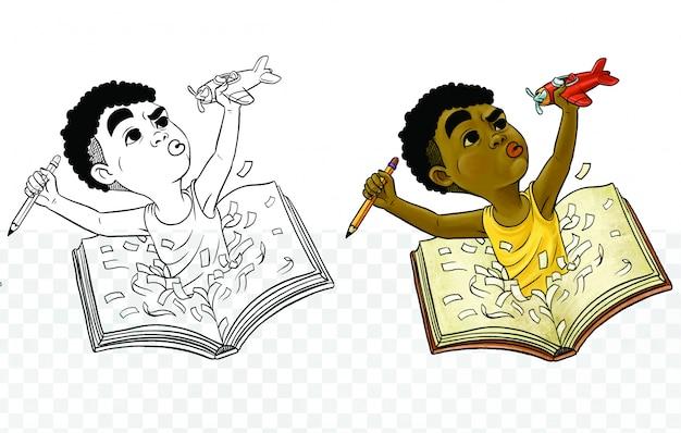 Książka, dzieci i ilustracja marzeń