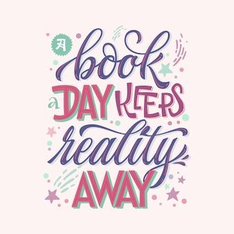 Książka dziennie trzyma rzeczywistość z daleka - motywacyjny cytat o książkach i czytaniu.