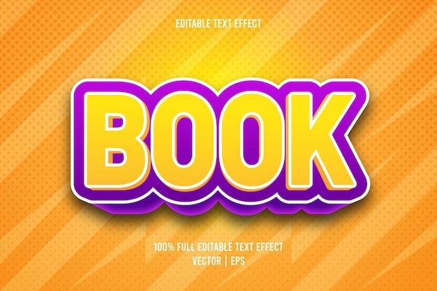 Książka edytowalny efekt tekstowy
