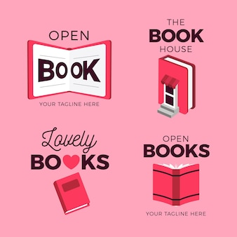 Książka Logo Pack Płaska Konstrukcja Darmowych Wektorów