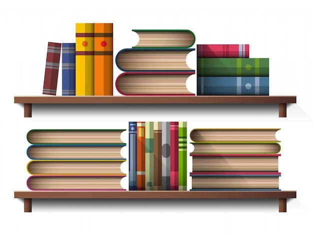 Książka na drewnianej półce