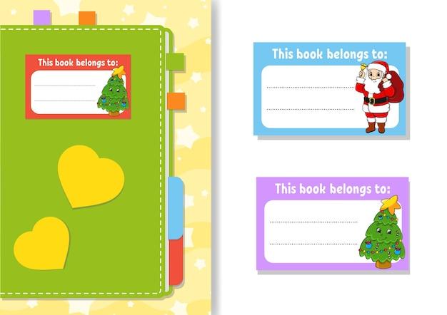 Książka naklejki etykiety dla dzieci ilustracji