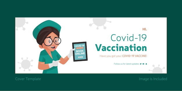 Książka szczepień covid 19 online szablon okładki na facebooka