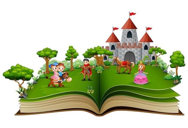 Książka z książkami z kreskówek księżniczek