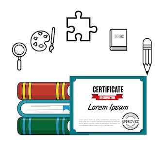 Książki i certyfikat